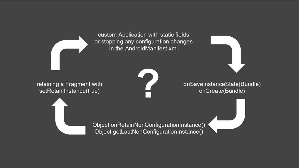 ? custom Application with static fields or stop...
