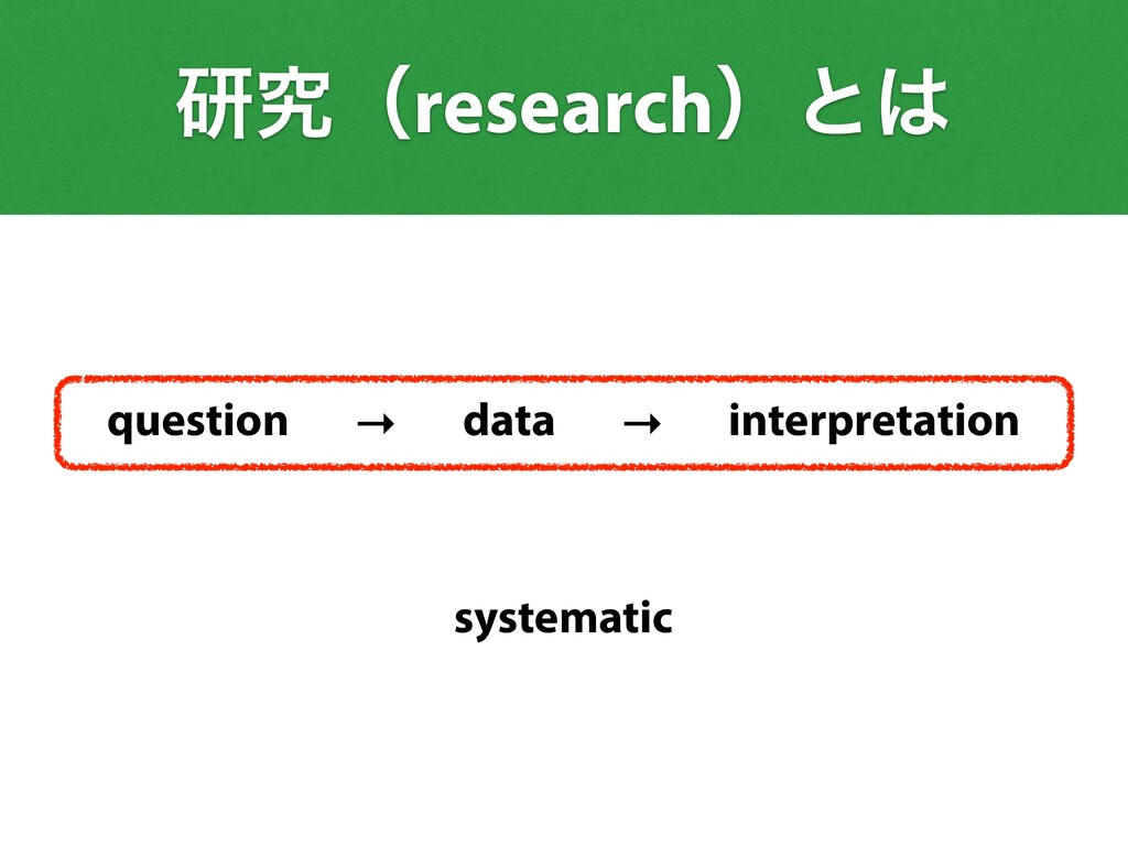 question data interpretation → → ݚڀʢresearchʣͱ...