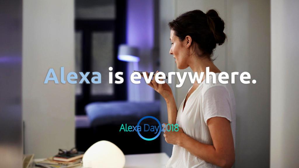 Alexa is everywhere.
