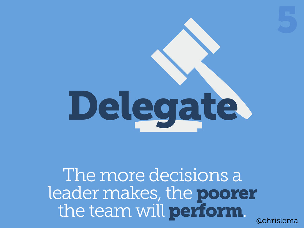 The more decisions a leader makes, the poorer t...