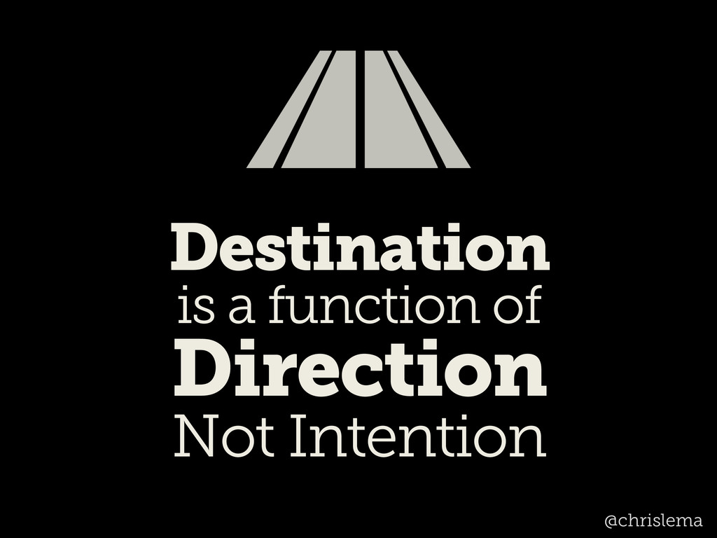 Destination is a function of Direction Not Inte...