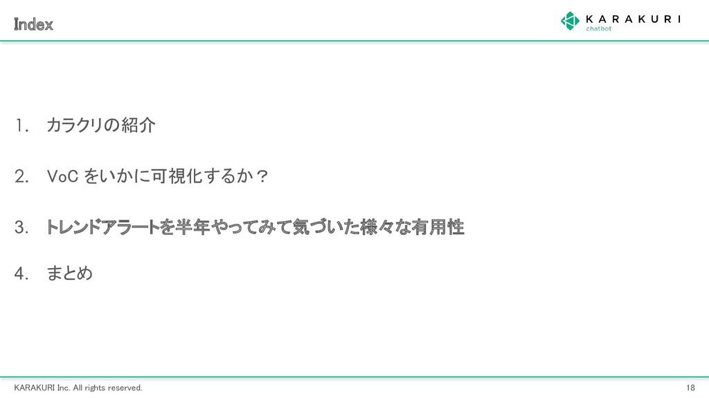 KARAKURI Inc. All rights reserved. 18 Index ...