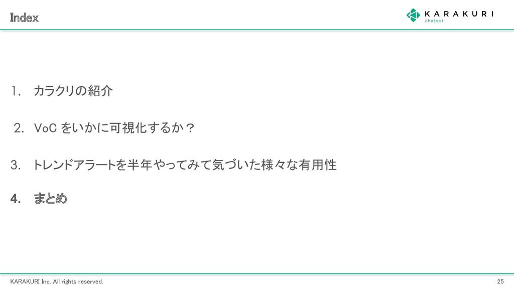 KARAKURI Inc. All rights reserved. 25 Index ...