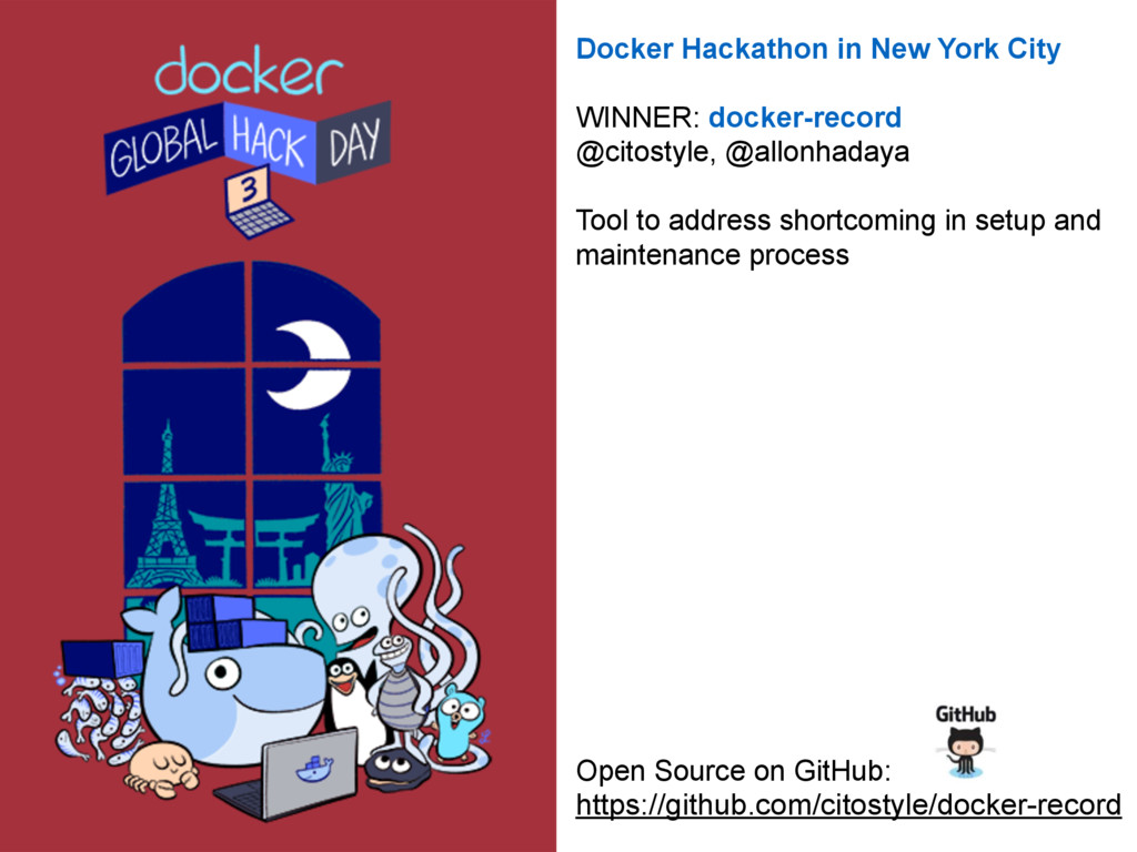 Docker Hackathon in New York City 