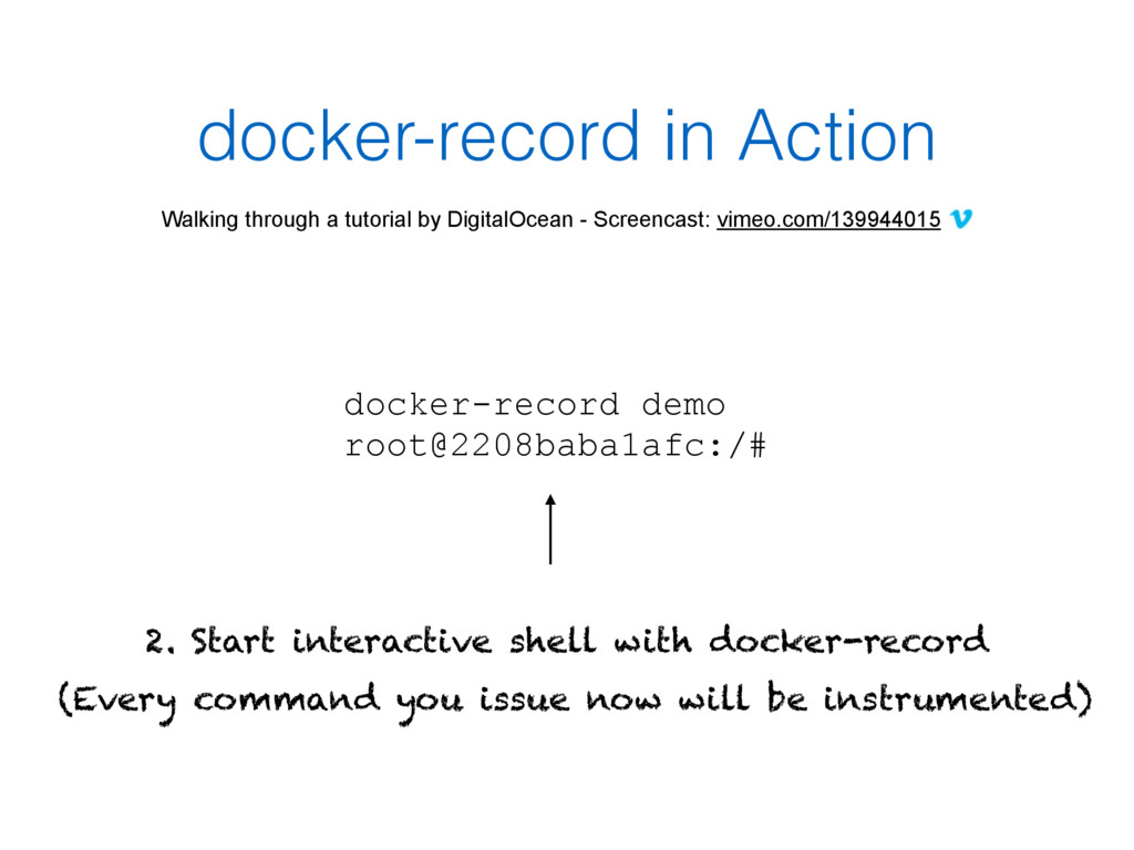 docker-record in Action Walking through a tutor...