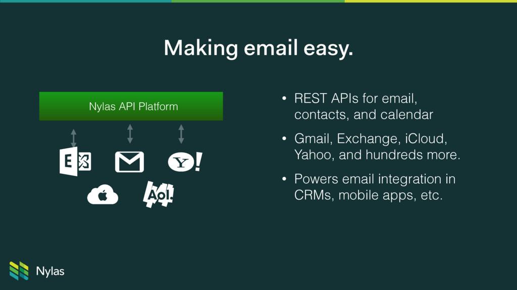 Nylas API Platform • REST APIs for email, conta...