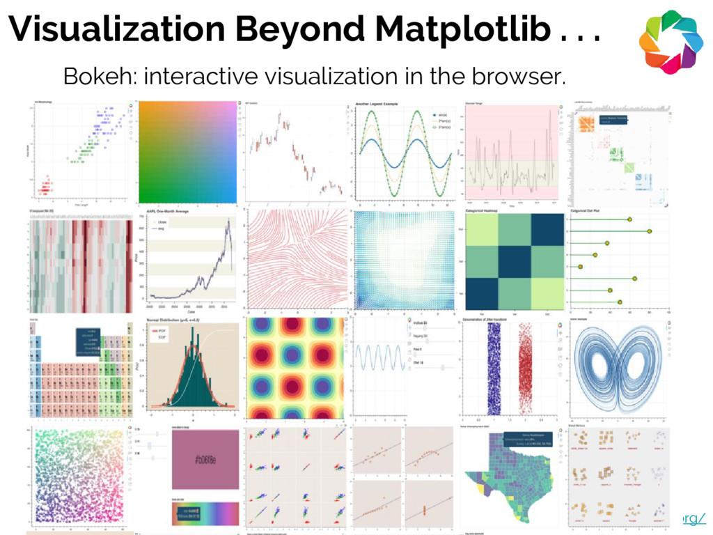 Visualization Beyond Matplotlib . . . http://bo...