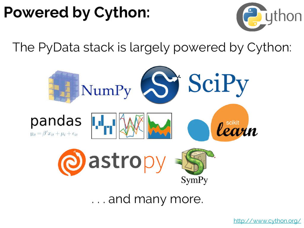 Powered by Cython: http://www.cython.org/ The P...