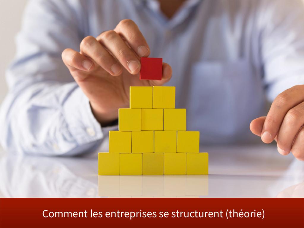 Comment les entreprises se structurent (théorie)