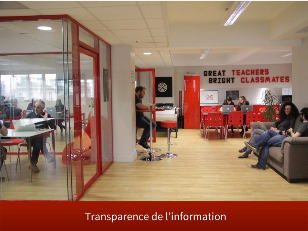 Transparence de l'information