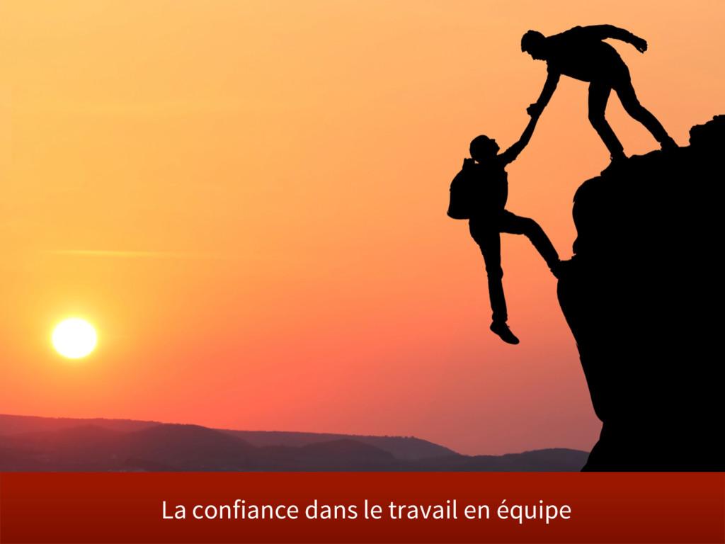 La confiance dans le travail en équipe