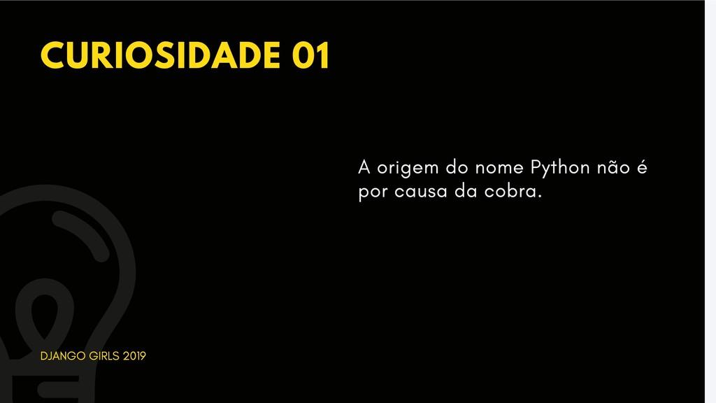 CURIOSIDADE 01 DJANGO GIRLS 2019 A origem do no...