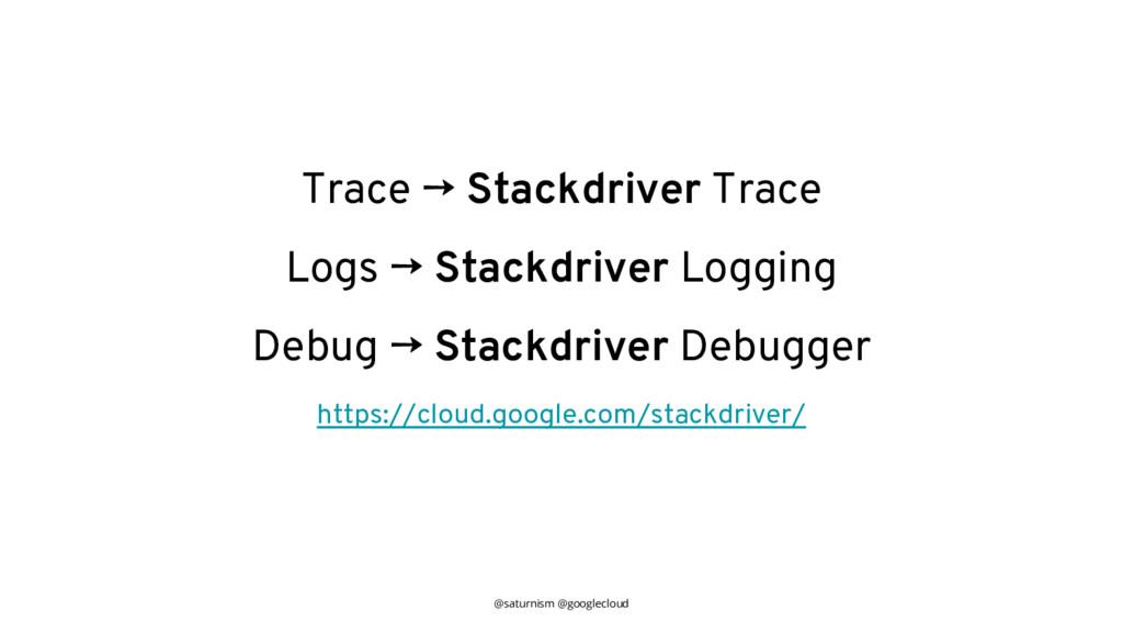 @saturnism @googlecloud Trace → Stackdriver Tra...