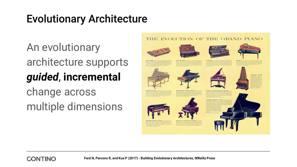 An evolutionary architecture supports guided, i...