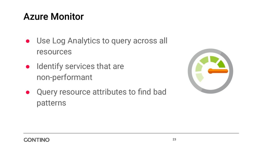 ● Use Log Analytics to query across all resourc...
