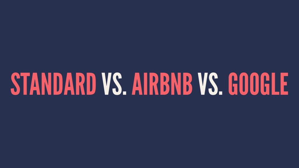 STANDARD VS. AIRBNB VS. GOOGLE