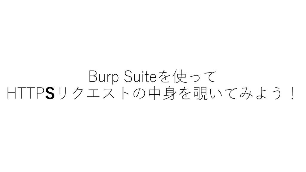 Burp Suiteを使って HTTP4リクエストの中⾝を覗いてみよう!