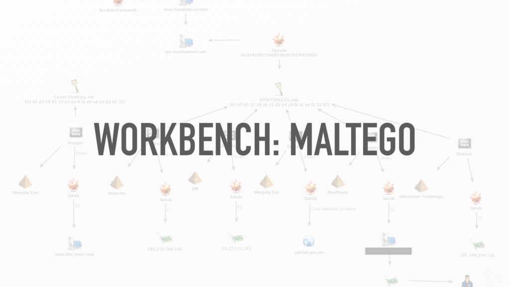 WORKBENCH: MALTEGO