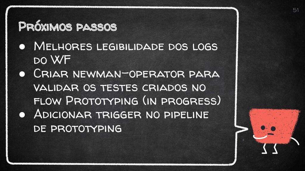 Próximos passos 51 ● Melhores legibilidade dos ...