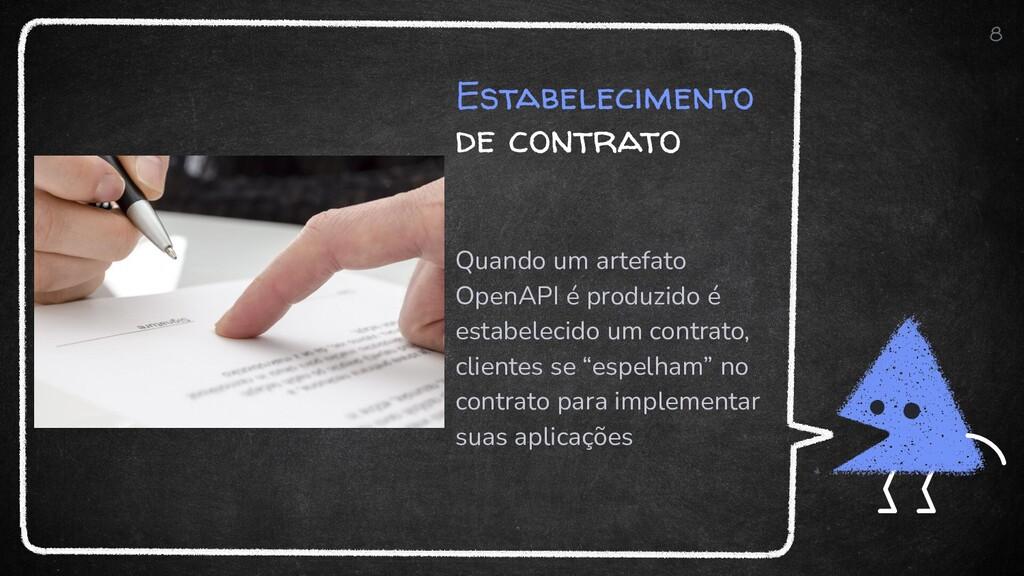 Estabelecimento de contrato Quando um artefato ...