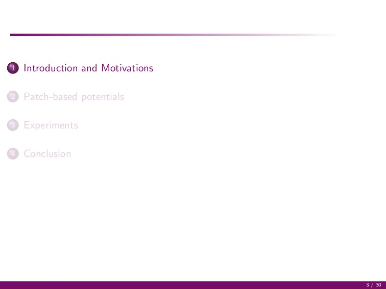 1 Introduction and Motivations 2 Patch-based po...