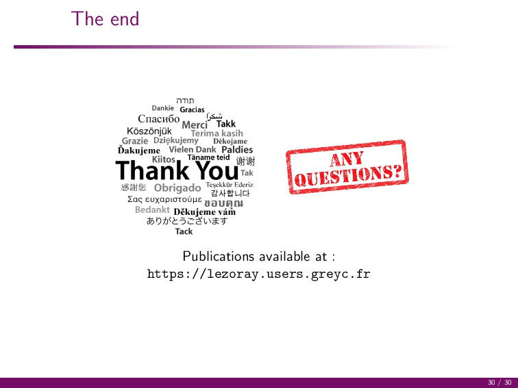 The end Publications available at : https://lez...