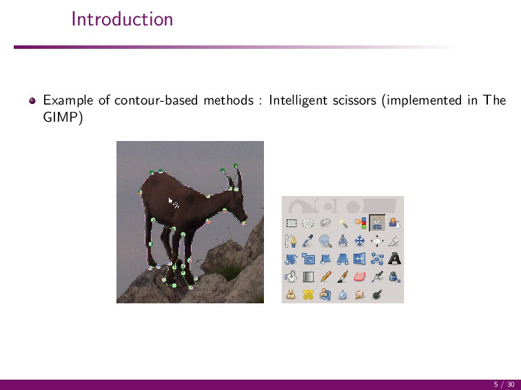 Introduction Example of contour-based methods :...