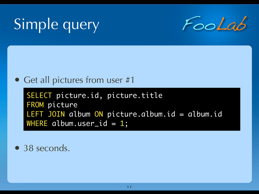 FooLab Simple query • Get all pictures from use...