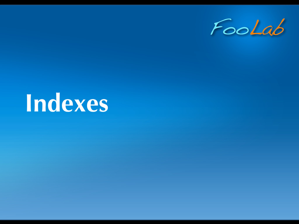 FooLab Indexes