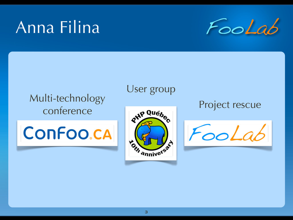 FooLab Anna Filina 3 User group Multi-technolog...