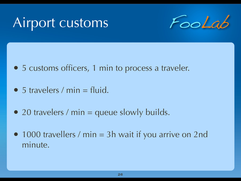 FooLab Airport customs 26 • 5 customs officers, ...