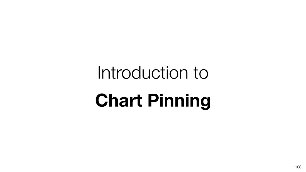 Introduction to Chart Pinning 108