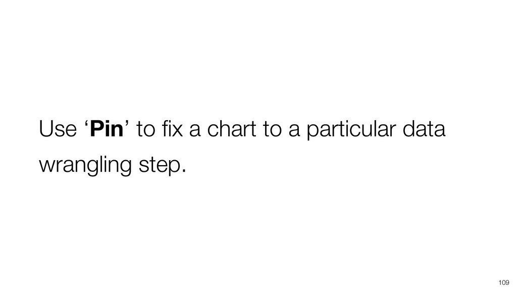 Use 'Pin' to fix a chart to a particular data wr...
