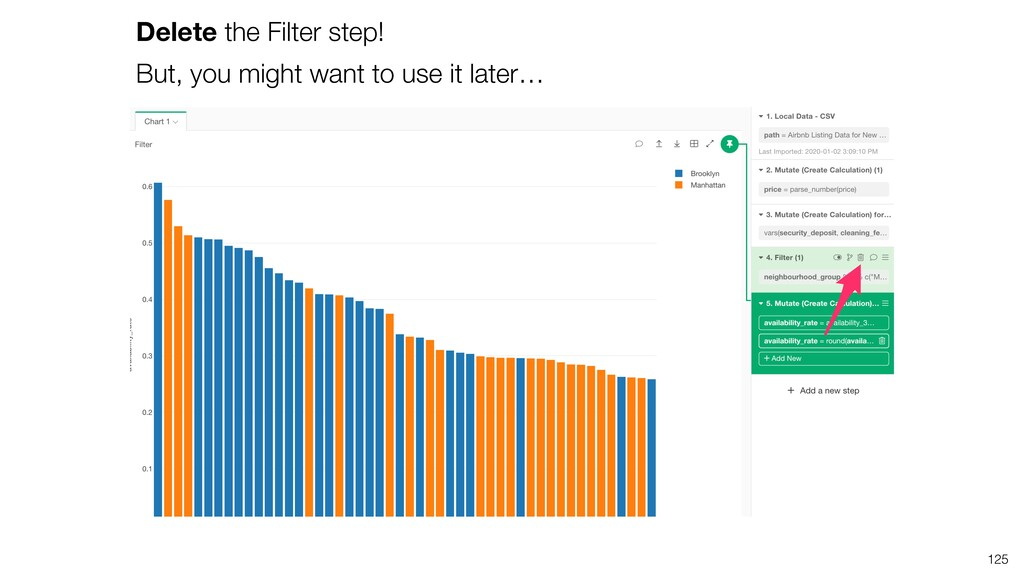 Delete the Filter step! But, you might want to ...