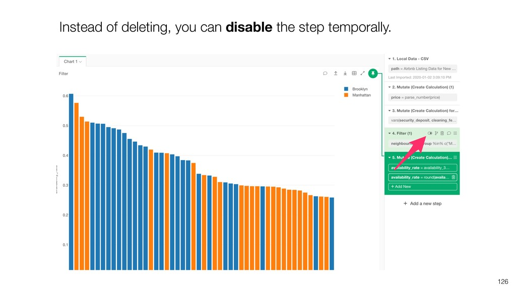 Instead of deleting, you can disable the step t...