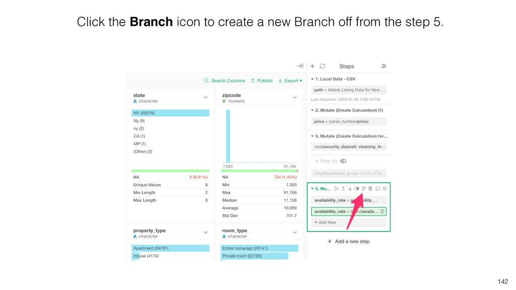 Click the Branch icon to create a new Branch of...