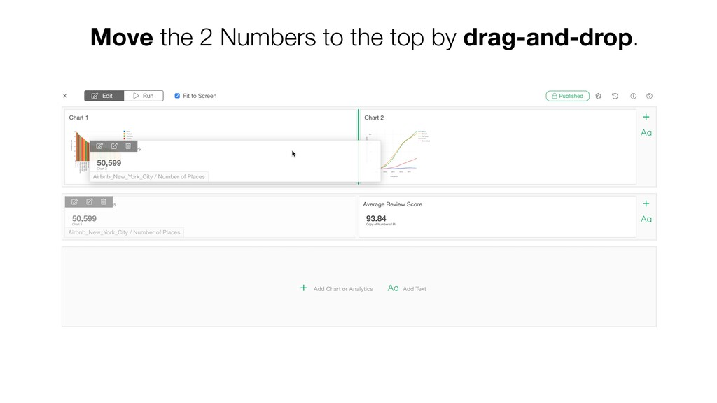 Move the 2 Numbers to the top by drag-and-drop.