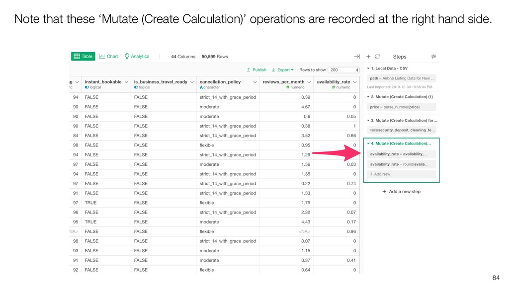 Note that these 'Mutate (Create Calculation)' o...