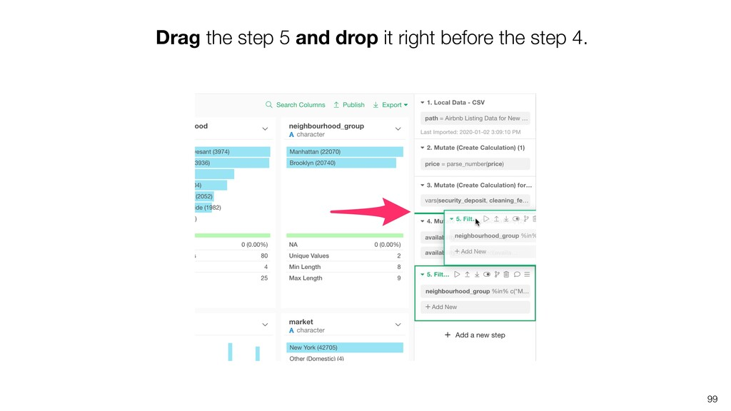 Drag the step 5 and drop it right before the st...