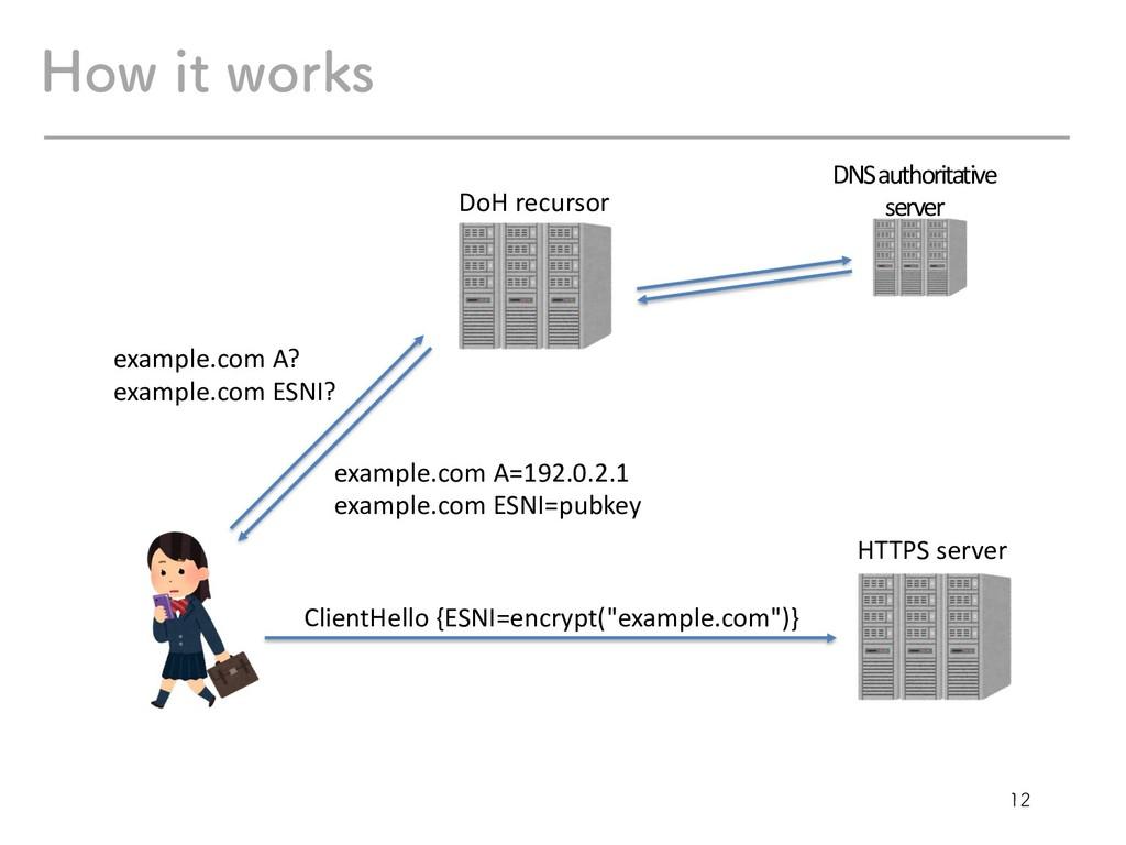 )PXJUXPSLT example.com A? example.com ESNI...
