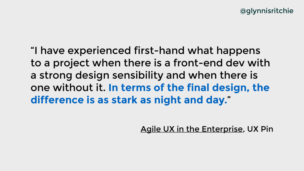 """I have experienced first-hand what happens to ..."