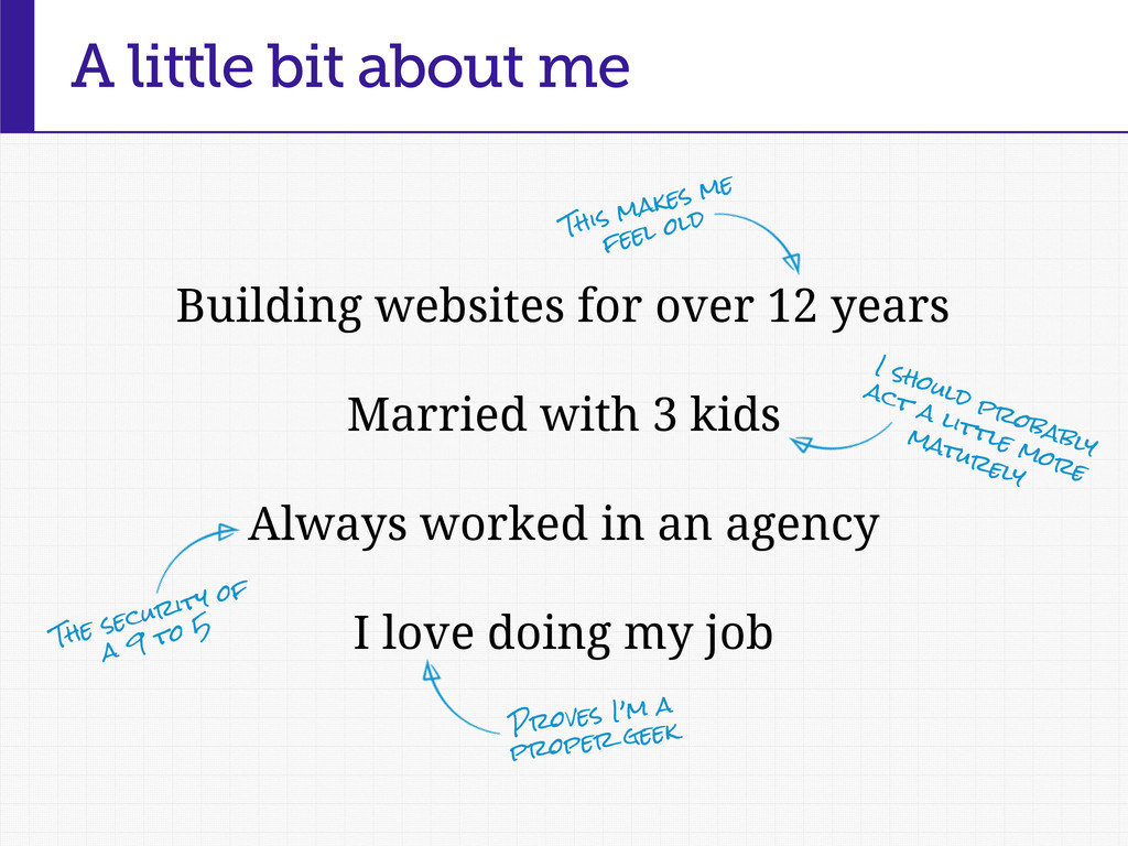 A little bit about me Building websites for ove...