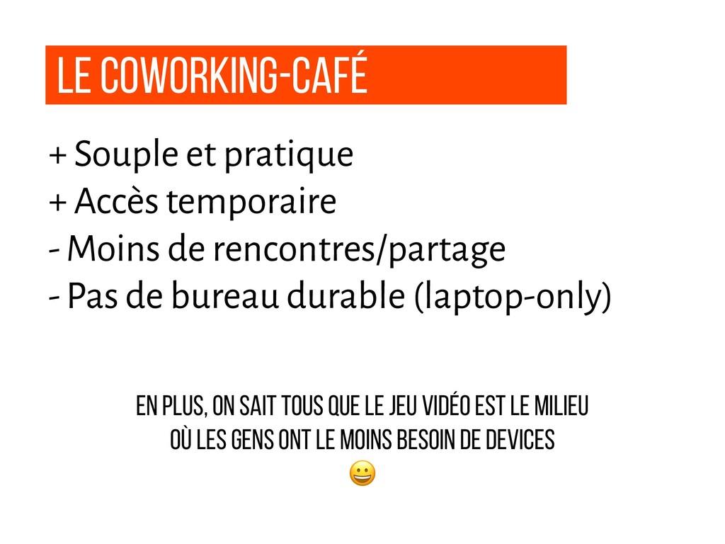 Le coworking-Café + Souple et pratique + Accès ...