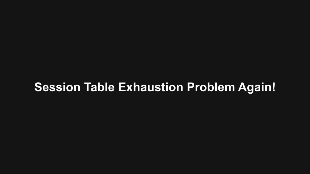 Session Table Exhaustion Problem Again!