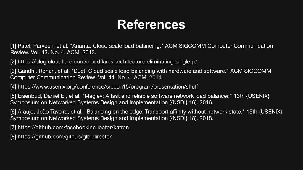 "References [1] Patel, Parveen, et al. ""Ananta: ..."