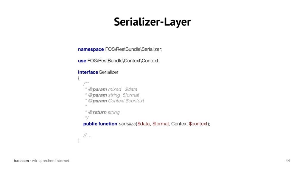 basecom · wir sprechen internet 44 Serializer-L...