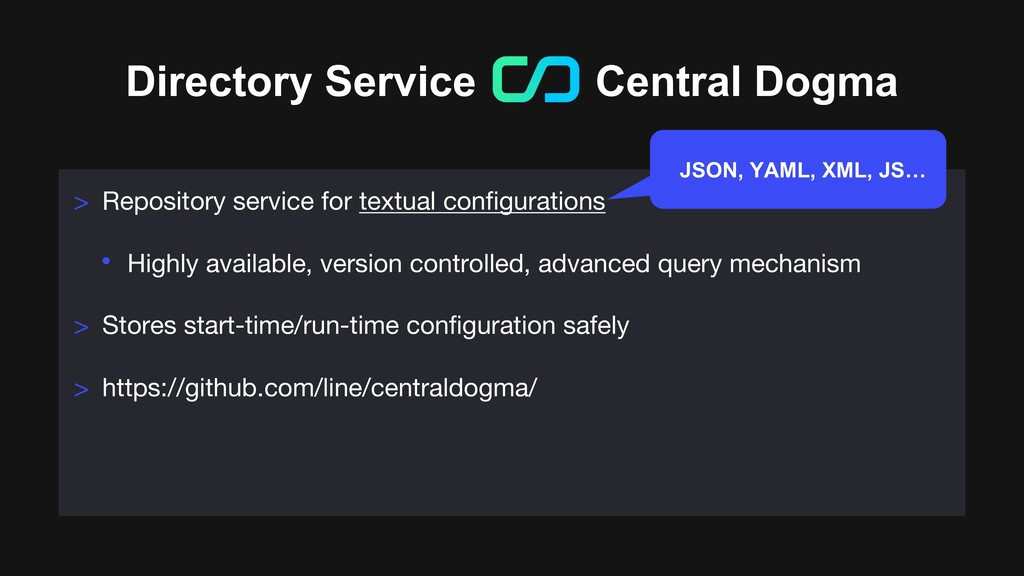 Directory Service Central Dogma > Repository se...