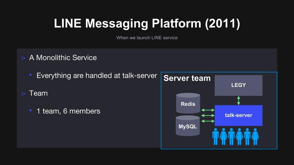 When we launch LINE service LINE Messaging Plat...