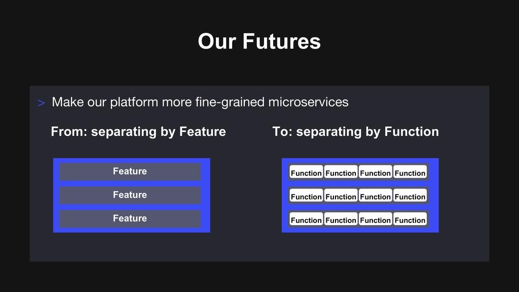 Our Futures > Make our platform more fine-grain...