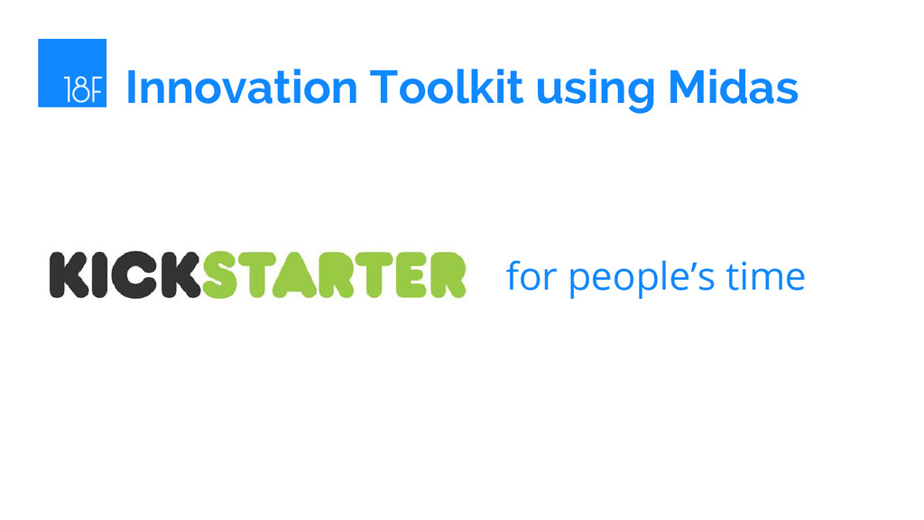 Innovation Toolkit using Midas for people's time